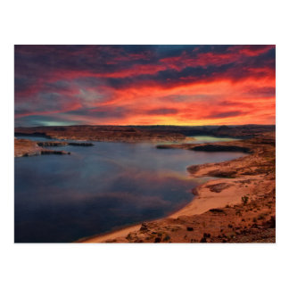 Lake Powell beautiful nature scenery Postcard