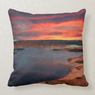 Lake Powell beautiful nature scenery Throw Pillow