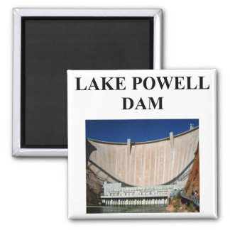 lake powell dam 2 inch square magnet