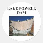 lake powell dam round stickers
