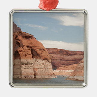 Lake Powell, Glen Canyon, Arizona, USA 3 Square Metal Christmas Ornament