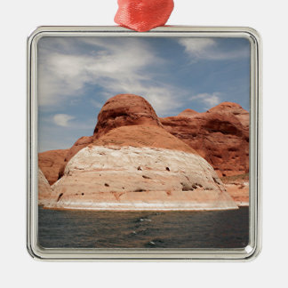 Lake Powell, Glen Canyon, Arizona, USA 4 Square Metal Christmas Ornament