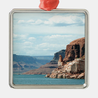 Lake Powell, Glen Canyon, Arizona, USA 6 Square Metal Christmas Ornament