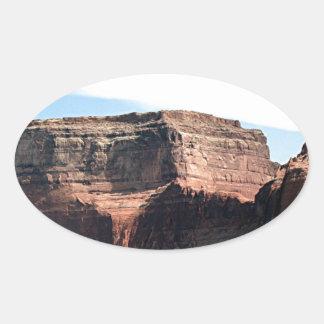 Lake Powell, Glen Canyon, Arizona, USA 7 Oval Sticker