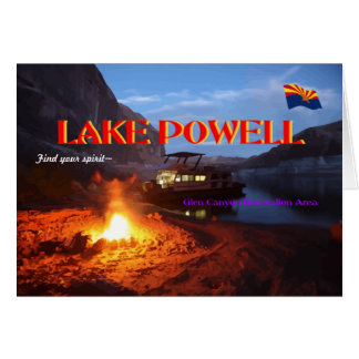 Lake Powell Glen Canyon Recreation Area Card