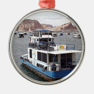 Lake Powell Houseboat, Arizona, USA 2 Metal Ornament