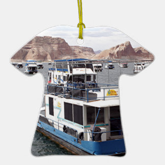 Lake Powell Houseboat, Arizona, USA 2 Double-Sided T-Shirt Ceramic Christmas Ornament
