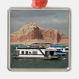 Lake Powell Houseboat, Arizona, USA 3 Metal Ornament