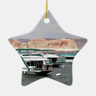 Lake Powell Houseboat, Arizona, USA 4 Ceramic Ornament