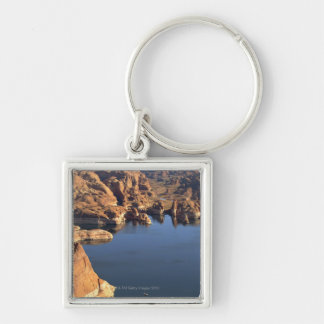 Lake Powell Silver-Colored Square Keychain