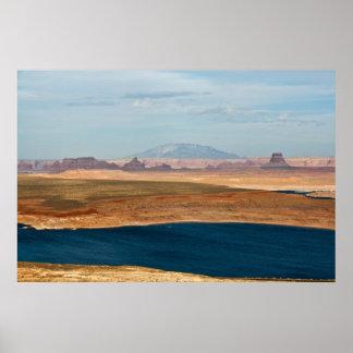 Lake Powell & Navajo Mountain Canvas Poster