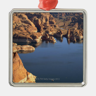 Lake Powell Square Metal Christmas Ornament