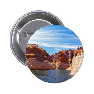 Lake Powell Page Arizona Water Reservoir Landscape 2 Inch Round Button