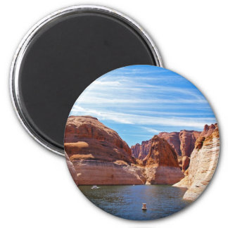 Lake Powell Page Arizona Water Reservoir Landscape 2 Inch Round Magnet