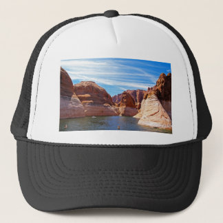 Lake Powell Page Arizona Water Reservoir Landscape Trucker Hat