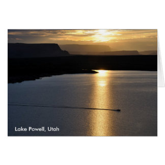 Lake Powell Sunrise - Glen Canyon Recreation Area Card
