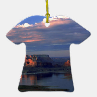 Lake Powell Utah Double-Sided T-Shirt Ceramic Christmas Ornament