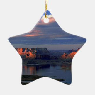 Lake Powell Utah Double-Sided Star Ceramic Christmas Ornament