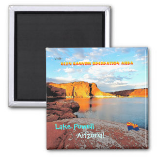 Lake Powell Vintage Style 2 Inch Square Magnet