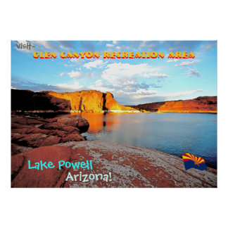 Lake Powell Vintage Style Poster