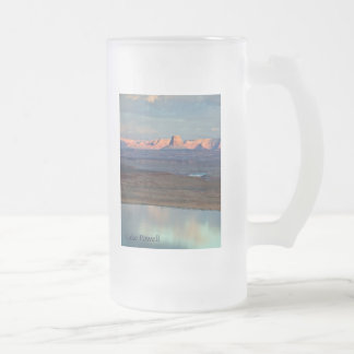 Lake Powell's Tower Butte Frosted Glass Beer Mug