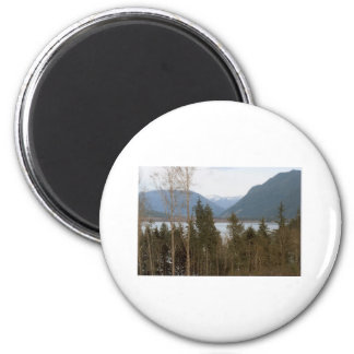 Lake Quinalt WA Olympic National Park Forest Photo 2 Inch Round Magnet