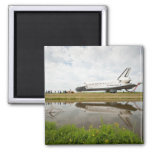 Lake Reflection 2 Inch Square Magnet