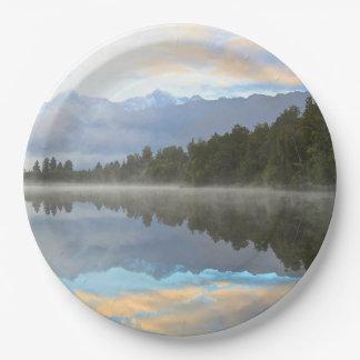 Lake Reflection Paper Plate