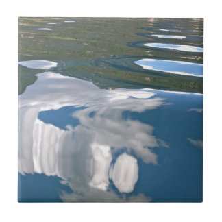 Lake Reflection Tile: Clouds Small Square Tile