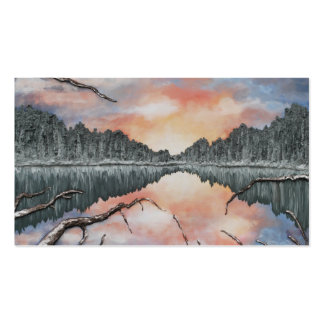 Lake Reflections by Fine Artist Alison Galvan Business Card