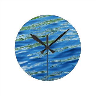 Lake Reflections Round Clock