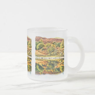 LAKE REFLECTIONS FROSTED GLASS COFFEE MUG
