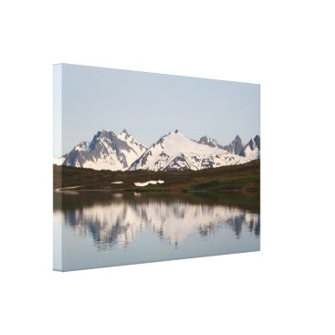 franwestphotography Lake reflections of mountains, Alaska Canvas Print