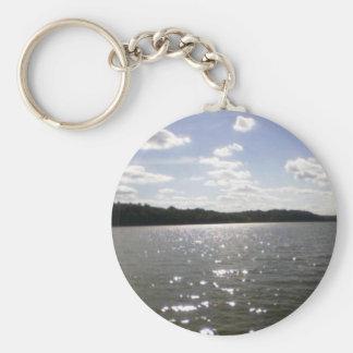lake ripples keychain