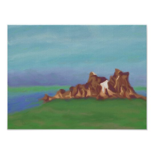 Lake Rock Formations, Poster