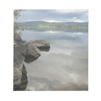 Lake Rocks Photo Memo Pad