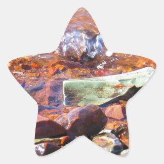 Lake rocks star sticker