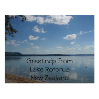 Lake Rotorua, New Zealand postcard