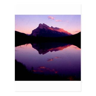 Lake Rundle Park Canadian Rockies Postcard