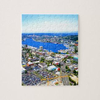 lake sailing landscape seattle downtown seattle jigsaw puzzle