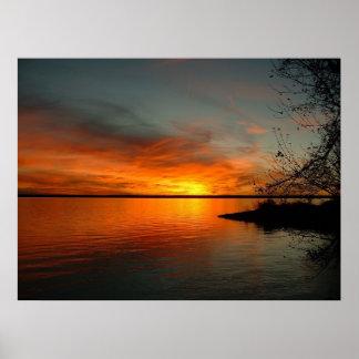 Lake Santee Sunset Poster