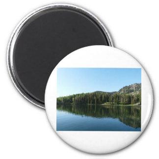 lake scene 2 inch round magnet