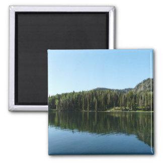 lake scene 2 inch square magnet