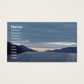 Lake scene business card