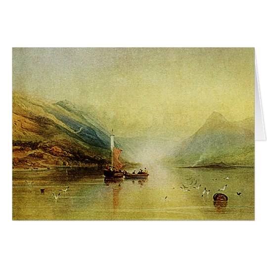 Lake Scene - Fine Art Watercolor Painting Card