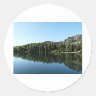 lake scene sticker