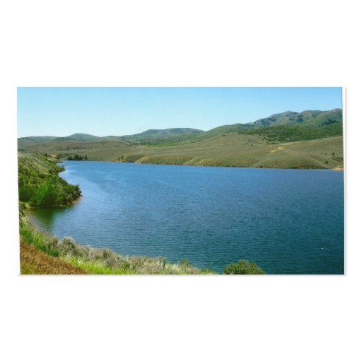 lake scenery buisness card business card template