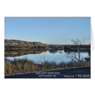 Lake Scott Reflections 2009 Greeting Card