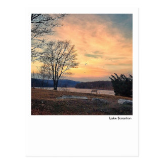 Lake Scranton-January Sunrise Postcard