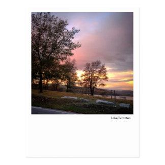 Lake Scranton Postcard-Pink Sunrise Sky Postcard